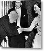 Charlie Chaplin Meeting Princess Metal Print by Everett