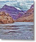 Charting The  Mighty Colorado River Metal Print