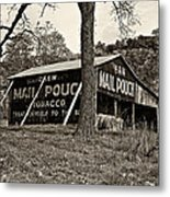 Chew Mail Pouch Sepia Metal Print