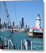 Chicago Harbor Lighthouse Metal Print