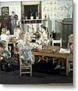Children Play In A Day Nursery Metal Print