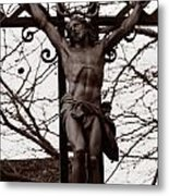 Christ Among The Ruins Metal Print