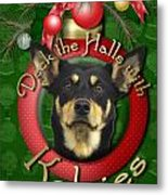 Christmas - Deck The Halls With Kelpies Metal Print