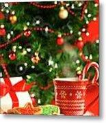 Christmas Cookies  Near The  Tree  Metal Print