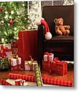 Christmas Tree With Gifts Metal Print
