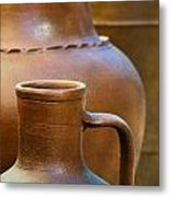 Clay Pottery Metal Print