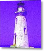 Colorful Lighthouse Metal Print by Juliana  Blessington