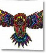 Coloured Owl Metal Print