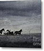 Country Wagon Metal Print by Perry Webster