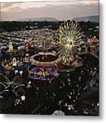 County Fair, Yakima Valley, Rides Metal Print by Sisse Brimberg