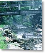 Cross The Stream Metal Print by Debra     Vatalaro