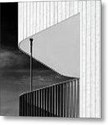 Curved Balcony Metal Print