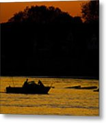 Day Of Fishing Is Over Metal Print