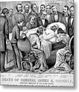 Death Of Garfield, 1881 Metal Print