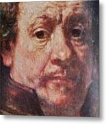 Detail From Portrait Of The Artist Rembrandt Canady Portfolio 9 Metal Print
