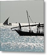 Dhows Metal Print by Alan Clifford