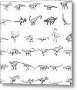 Dinosaur Collection Metal Print by Karl Addison