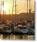 Docked Yachts Metal Print