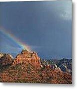 Double Rainbow Over Sedona Metal Print by Dan Turner