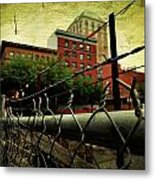 Down The Fence Metal Print