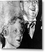 Dr. Norman Vincent Peale, And Wife Metal Print by Everett