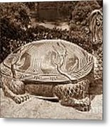 Dragon Turtle Figure Metal Print