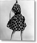 Dress By Pauline Trigere. Short Metal Print