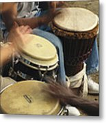 Drummers Of Varied Backgrounds Join Metal Print