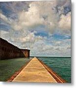Dry Tortugas Sea Wall Metal Print by Patrick  Flynn