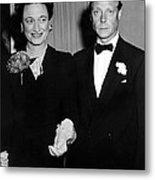 Duke And Duchess Of Windsor Metal Print