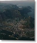 Early Morning Aerial View Of Cape Town Metal Print