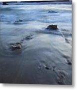 Ebb Stones Metal Print by Mike  Dawson