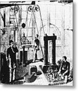 Edisons Electric Generator Metal Print