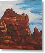 Elephant Rock Metal Print by Sandy Tracey