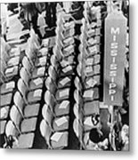 Empty Seats Of The Mississippi Metal Print by Everett