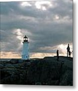 Evening At Peggy's Cove Metal Print