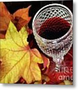 Fall Red Wine Metal Print