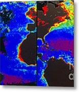 False-colour Satellite Images Metal Print by Dr. Gene Feldman, NASA Goddard Space Flight Center