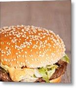 Fat Hamburger Sandwich Metal Print by Sabino Parente