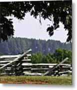 Fence At Appomattox Metal Print