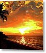 Fiery Sunset Metal Print by Yiries Saad
