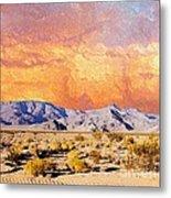 Fiery Western Sky Antarres Road Az Metal Print