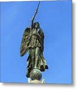 Figure Of Winged Victory At Gettysburg Metal Print by Randy Steele