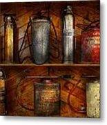 Fireman - Fire Control Metal Print by Mike Savad