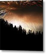 Firework Display At The Celebration Of Light In Vancouver Canada 2011 Metal Print