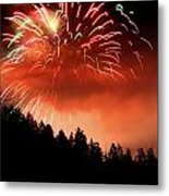 Fireworks From The Celebration Of Light In Vancouver 2011 Metal Print by Pierre Leclerc Photography