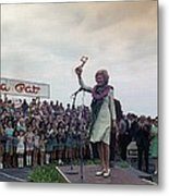 First Lady Campaigning In Hawaii. A Metal Print by Everett