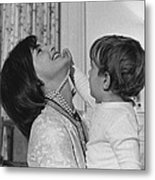 First Lady Jacqueline Kennedy Laughs Metal Print