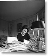 First Lady, Lady Bird Johnson, Working Metal Print