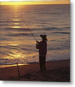 Fishing At Sunrise Metal Print by Raymond Gehman